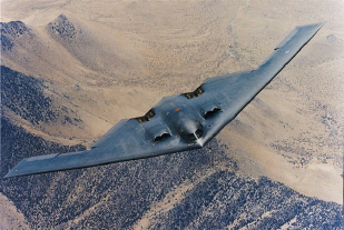 "B-2 ""Spirit"" Bomber in flight"